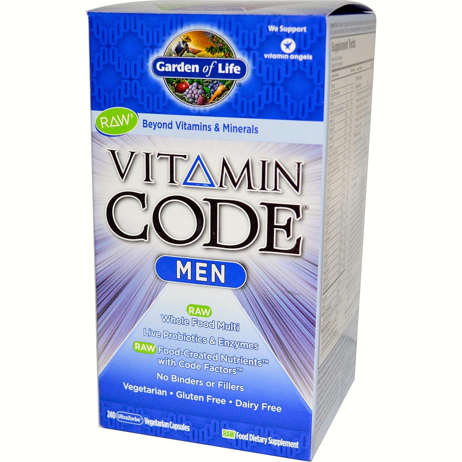 Vitamin Code Men By Garden Of Life 240 Caps White Dove Healing Arts Ltd