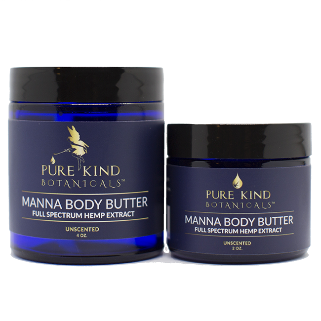 Manna Body Butter W Full Spectrum Hemp Extract 4oz